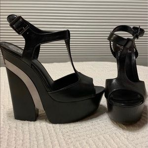 Vince Camuto T-Strap Baby Wedge